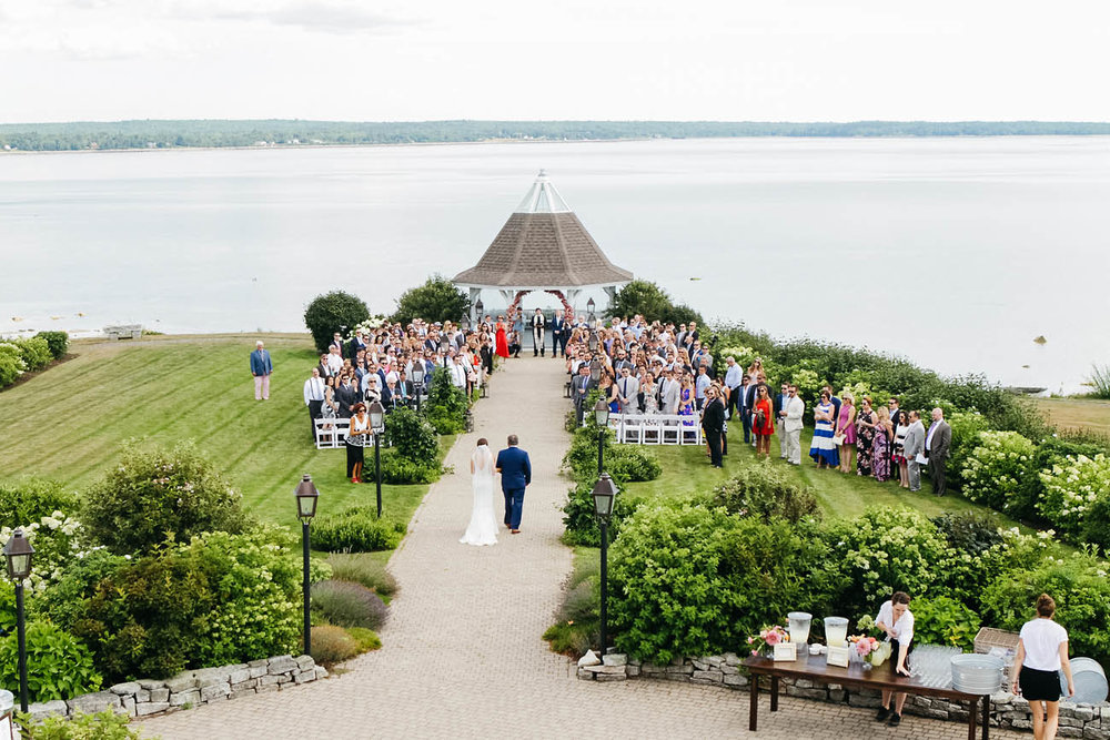 waterfront wedding location in maine