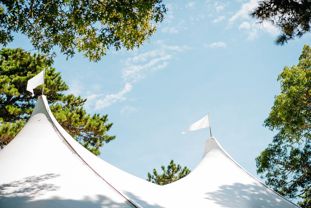 cape cod backyard wedding and tent rental