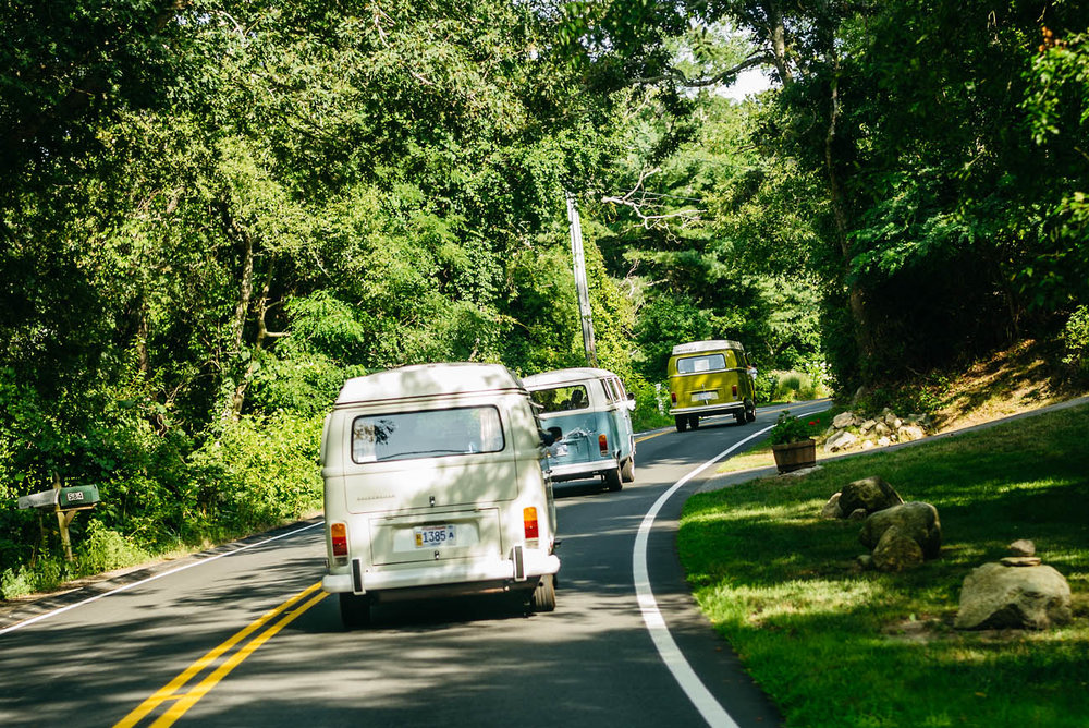 volkswagen bus rental for weddings in cape cod