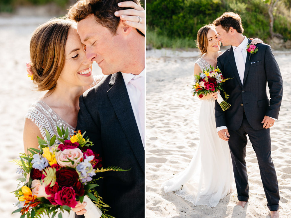 cute couple married on the beach in cape cod