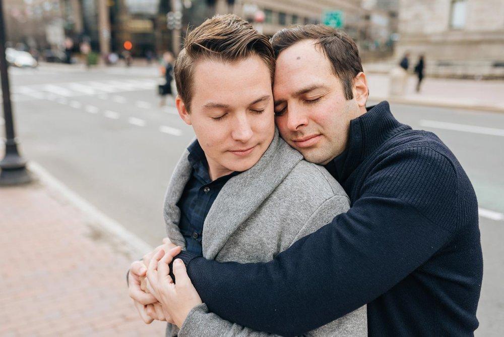 cute gay same-sex LGBTQ engagement