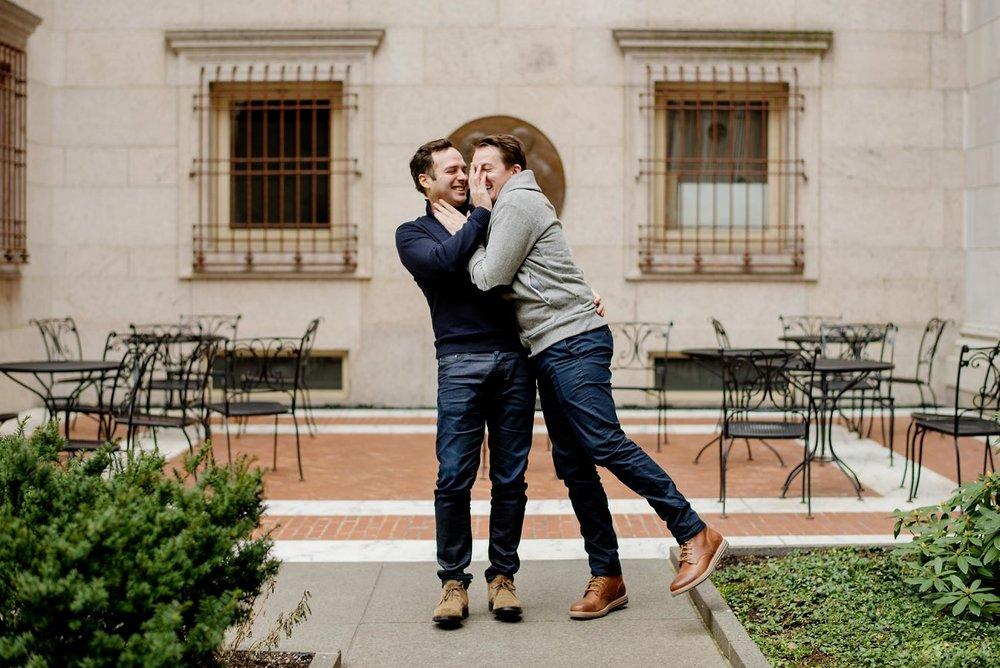 fun boston lifestyle same sex engagement session