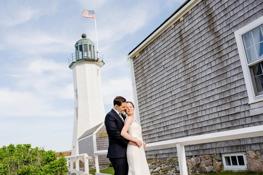 married at the scituate light house