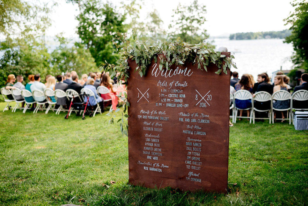 wolfeboro inn wedding ceremony sign inspiration