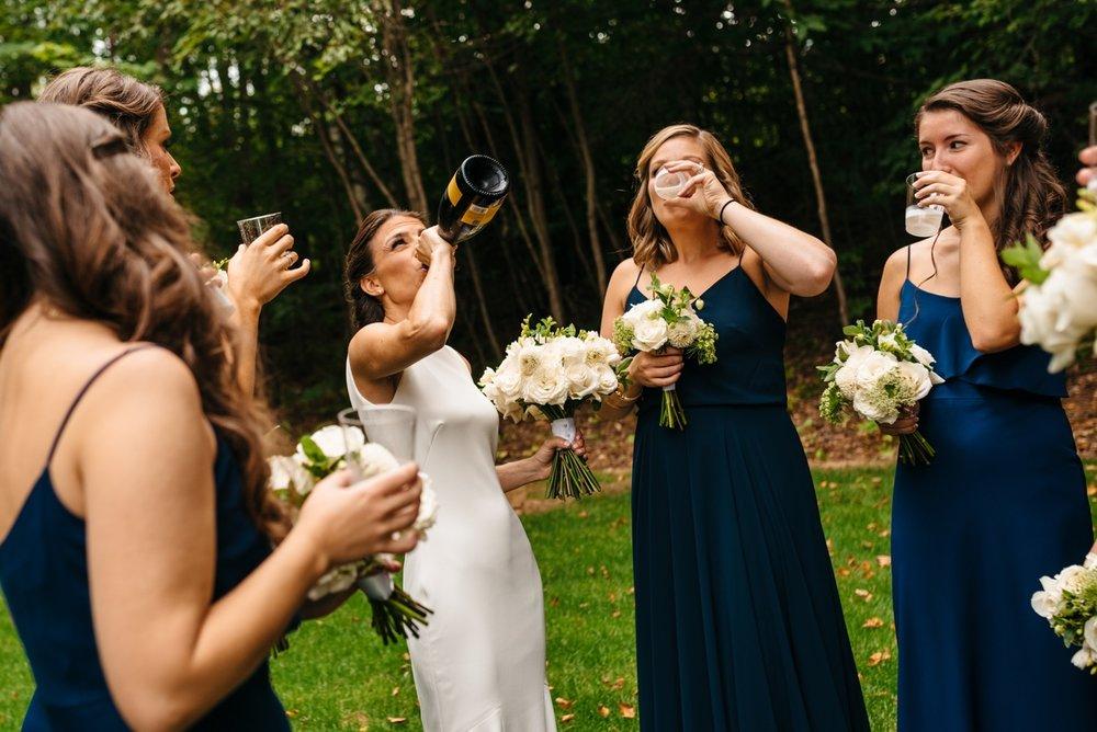 vermont bride having fun