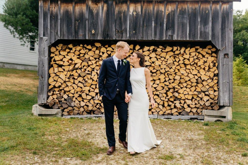 rustic vermont wedding portraits