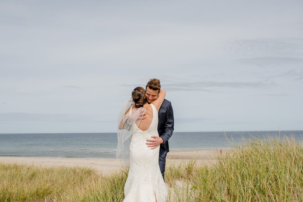 first look cape cod wedding photographer