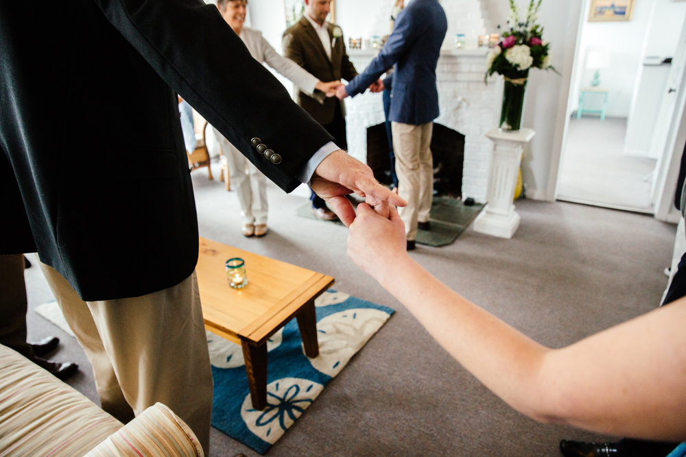 sweet intimate wedding ceremony in provincetown, ma