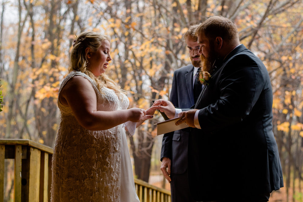 wedding vows at the barn on walnut hill in maine