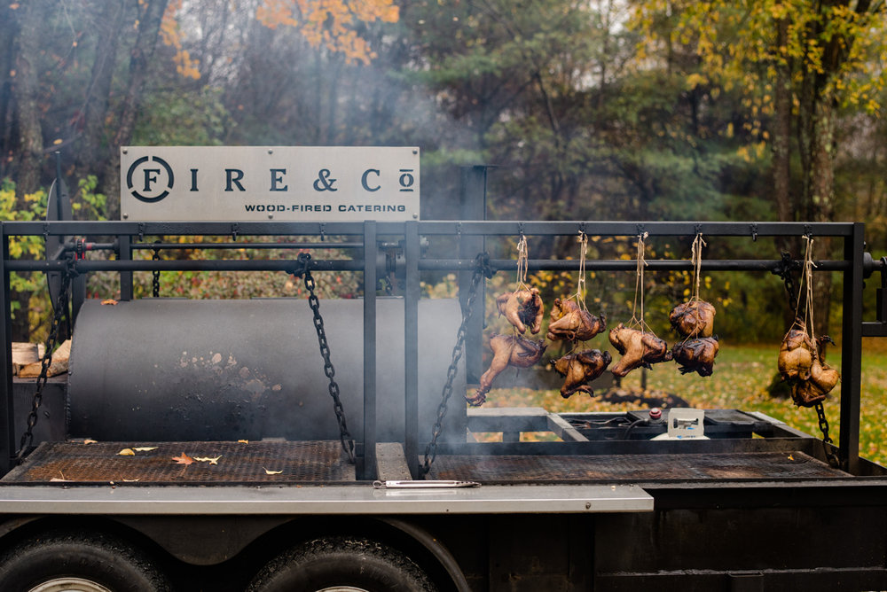 pig roast at your wedding ideas and companies in maine