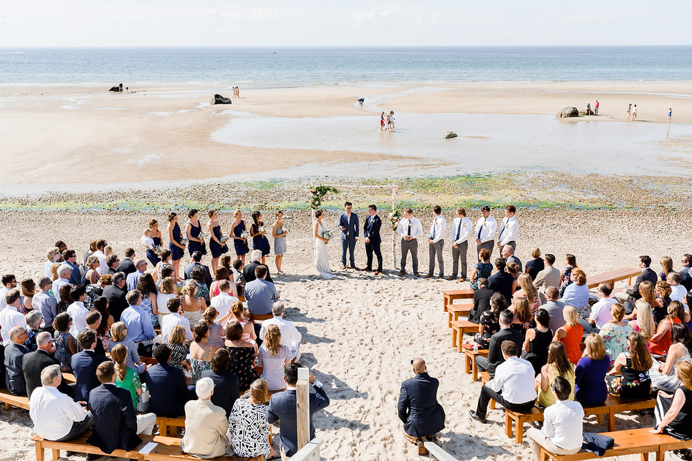dennis beach wedding at low tide on cape cod