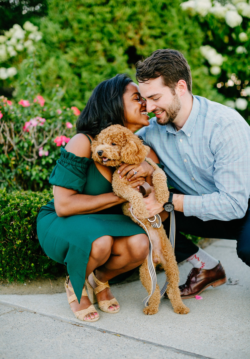 timeless boston portrait of couple and their pup