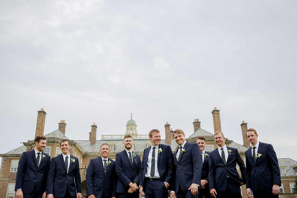 groomsmen at the crane estate