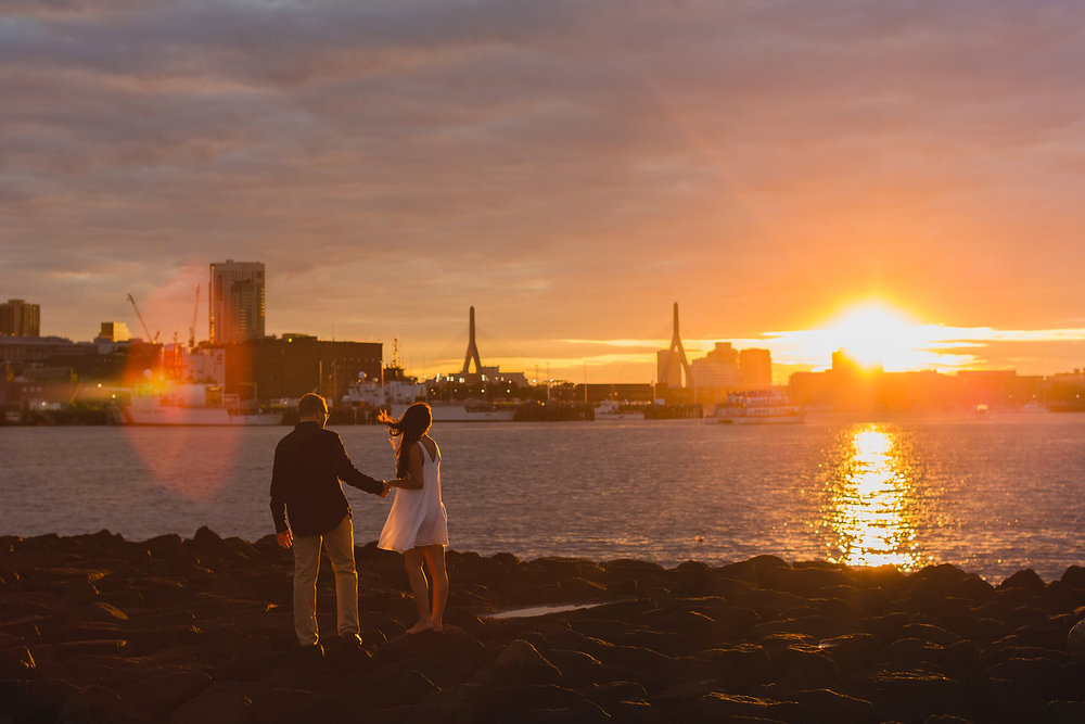 boston sunset engagements