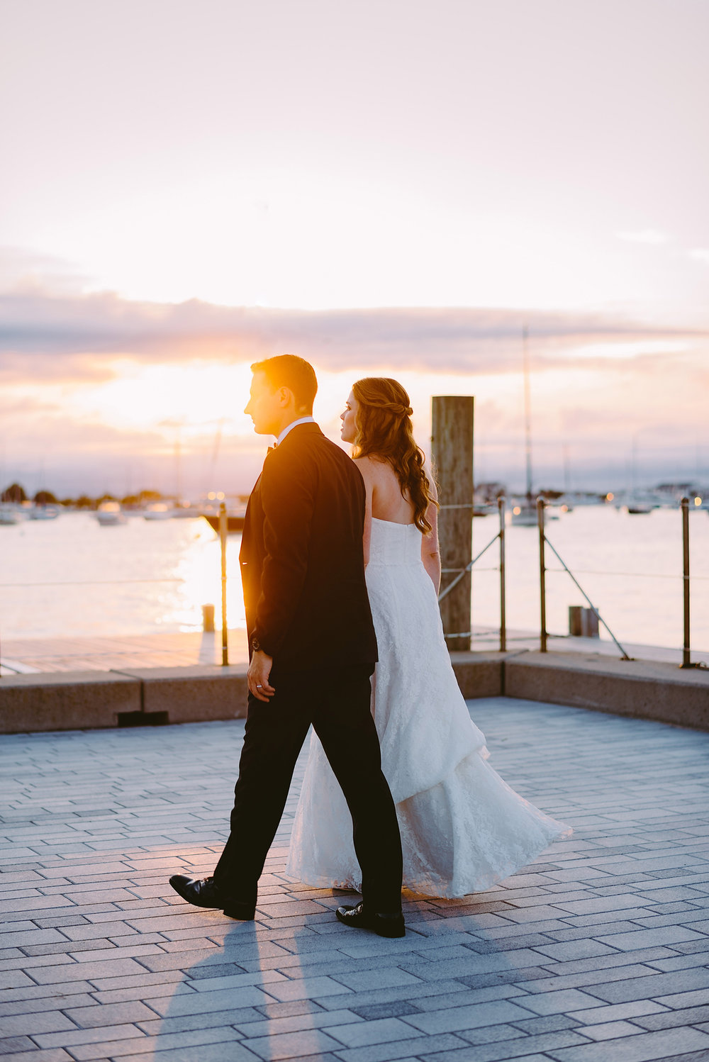 amazing newport rhode island sunset wedding photos