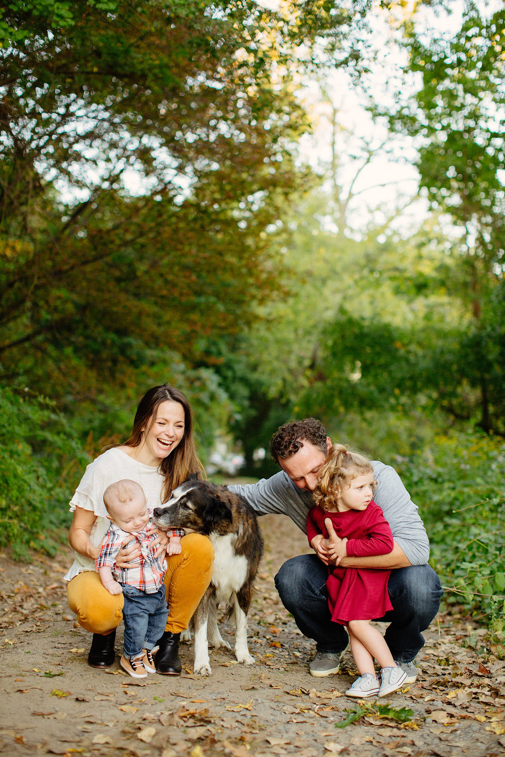 boston family photography in the woods