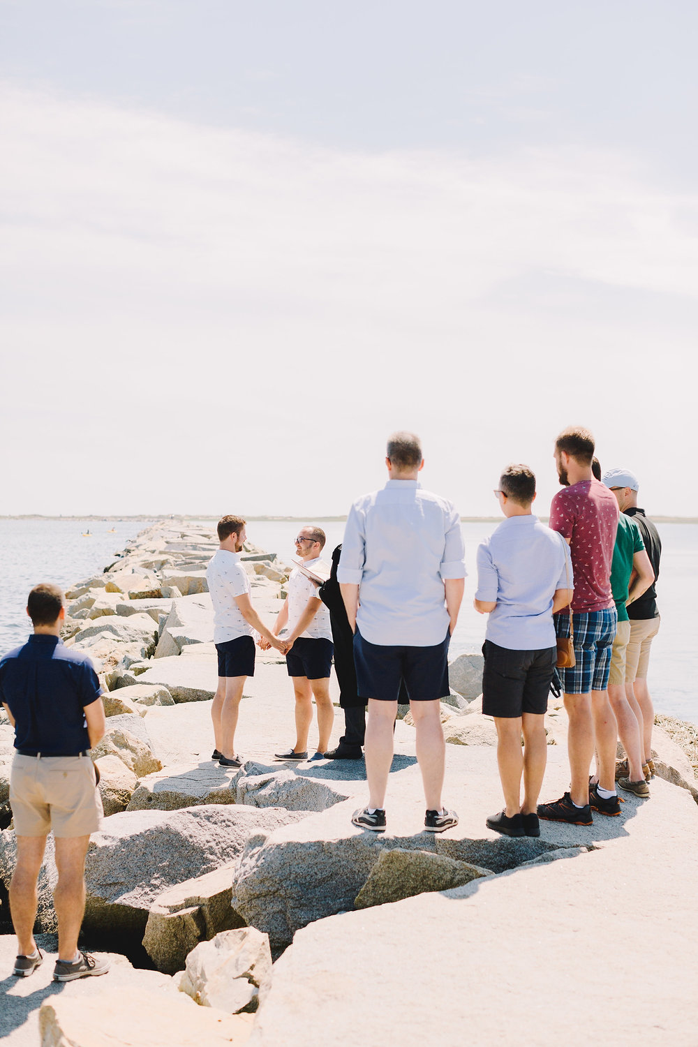 intimate provincetown beach elopement with family and friends