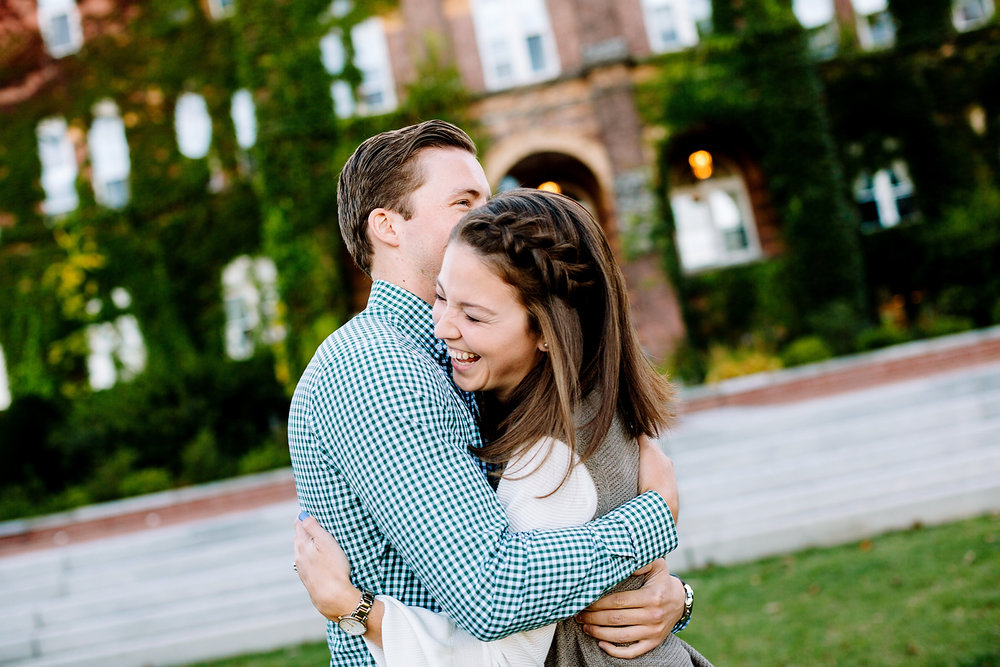 st. anselm engagement session in the fall