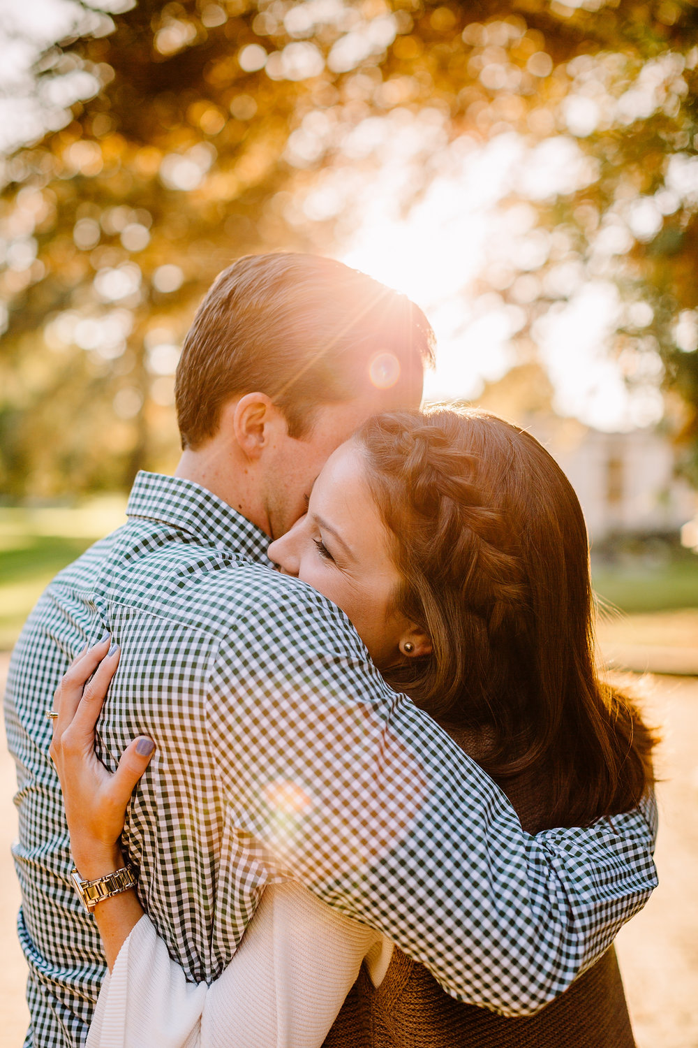 st. anselm engagement photos on campus in the fall