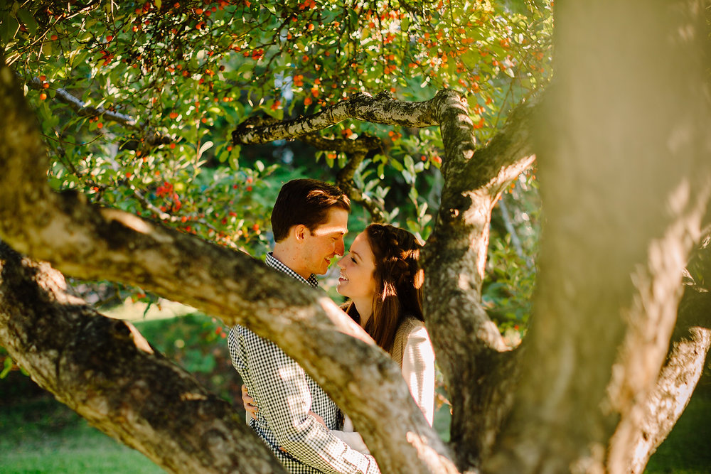 creative st. anselm engagement session in the fall