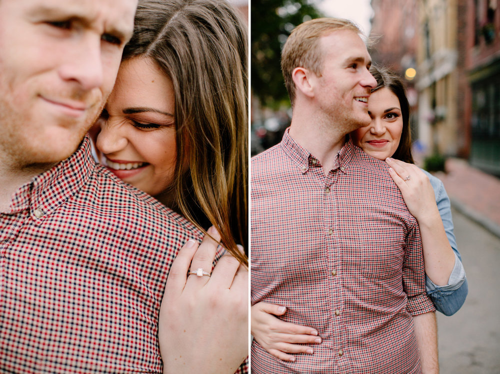 fun engagement photos in beacon hill  boston area