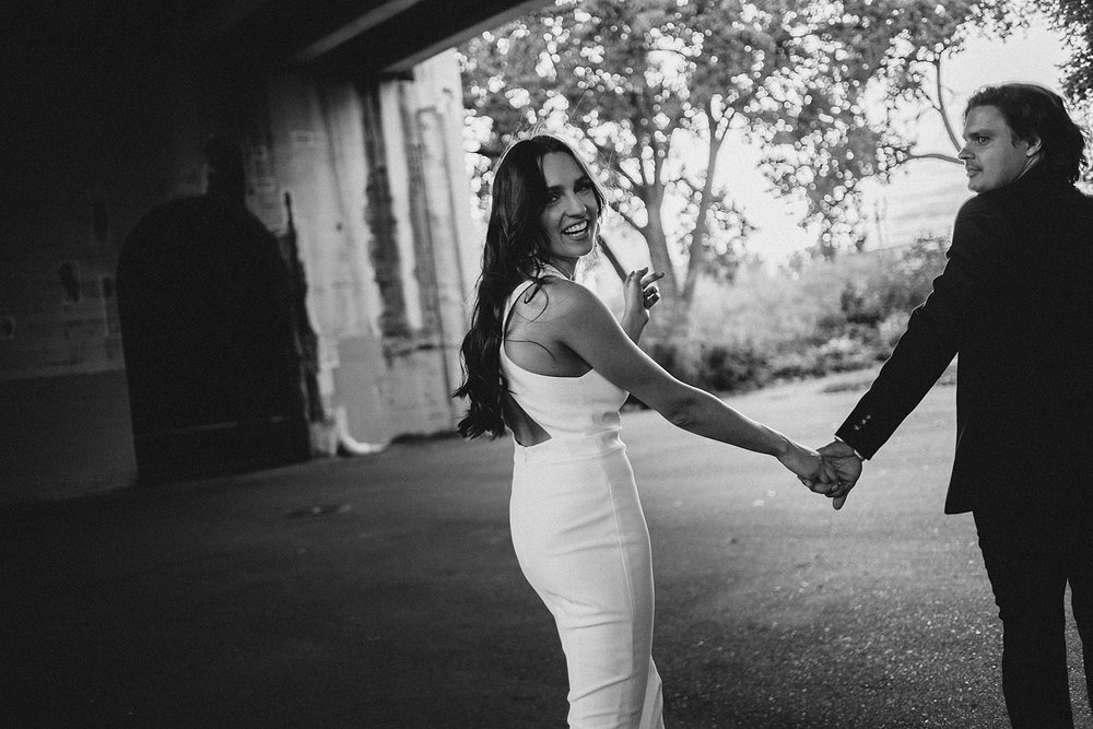 modern warehouse district minneapolis elopement photos