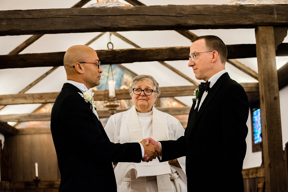 ceremony photos at Beautiful wedding photos at The Church of Saint Mary of the Harbor