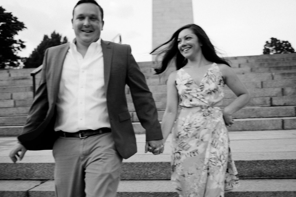 lifestyle black and white timeless photos in charlestown ma, engagement