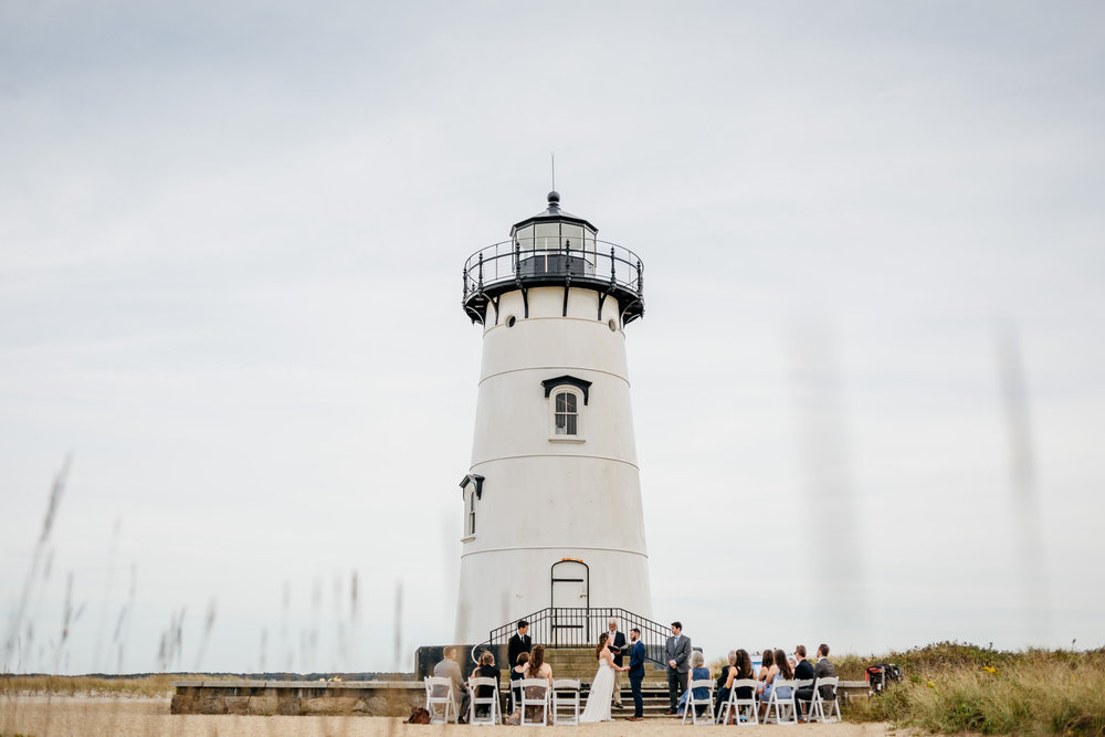 epic edgertown lighthouse wedding with views of ocean
