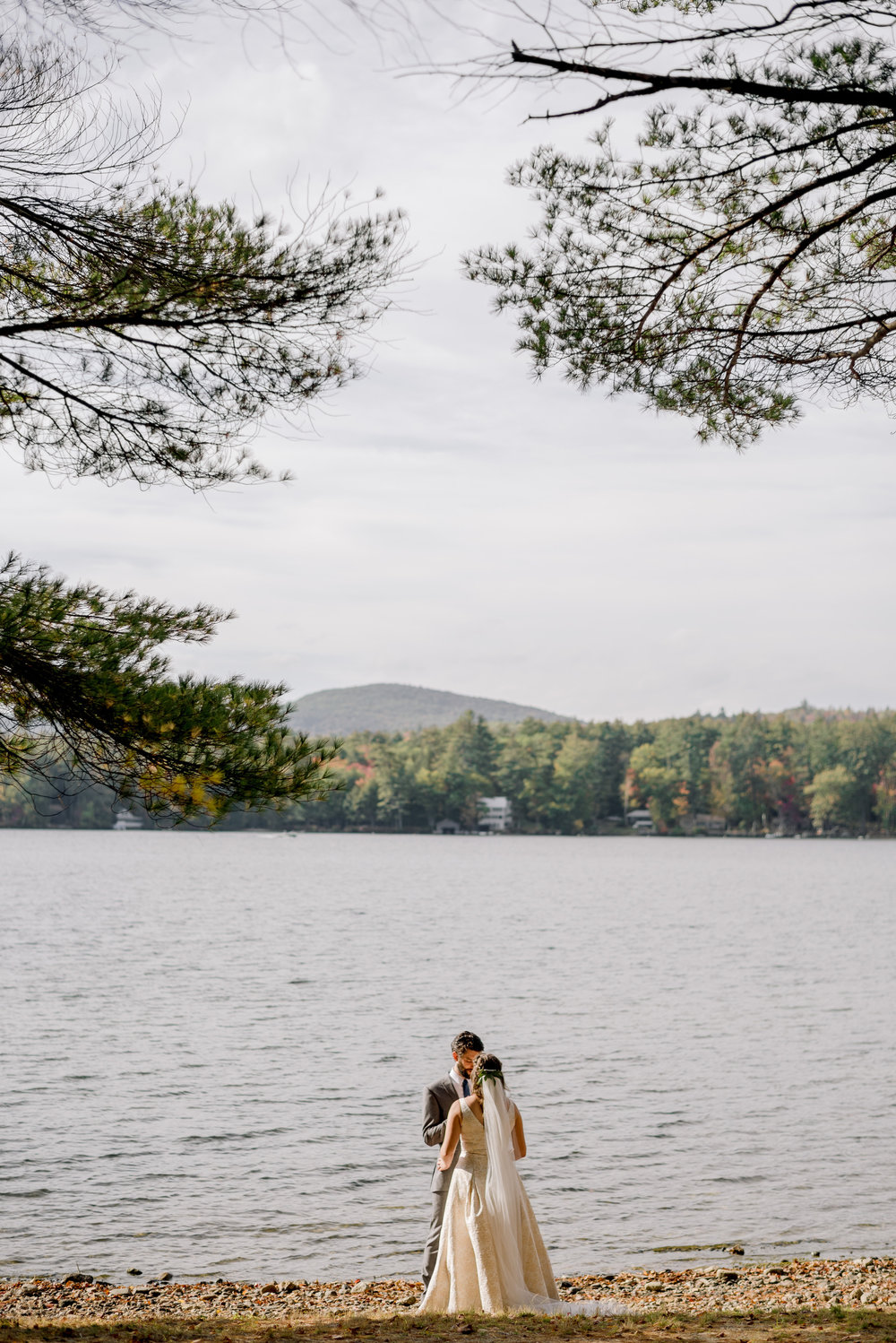 new england outdoor center wedding with views