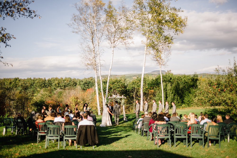 maine weddings with lake and mountain views
