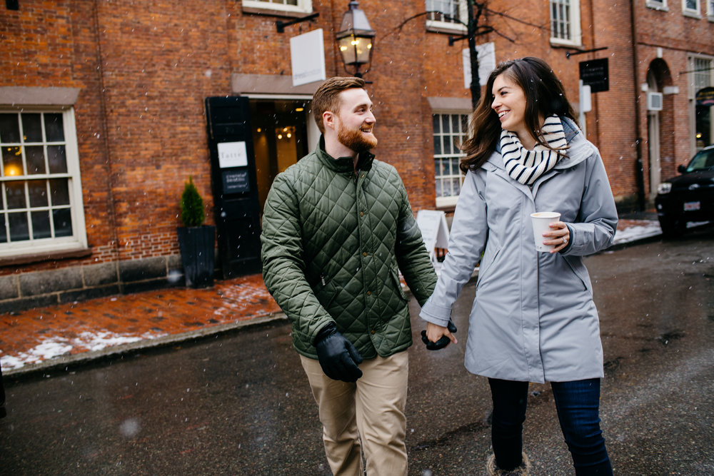 fun lifestyle beacon hill boston engagement session in the winter