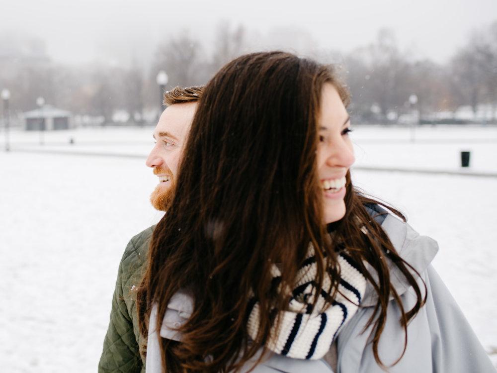 fun lifestyle boston winter engagement photos