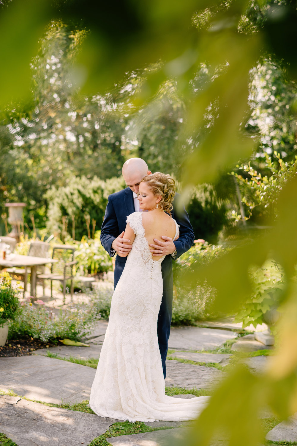 stunning wedding portrait of a couple at the Herb Lyceum in groton, massachusetts