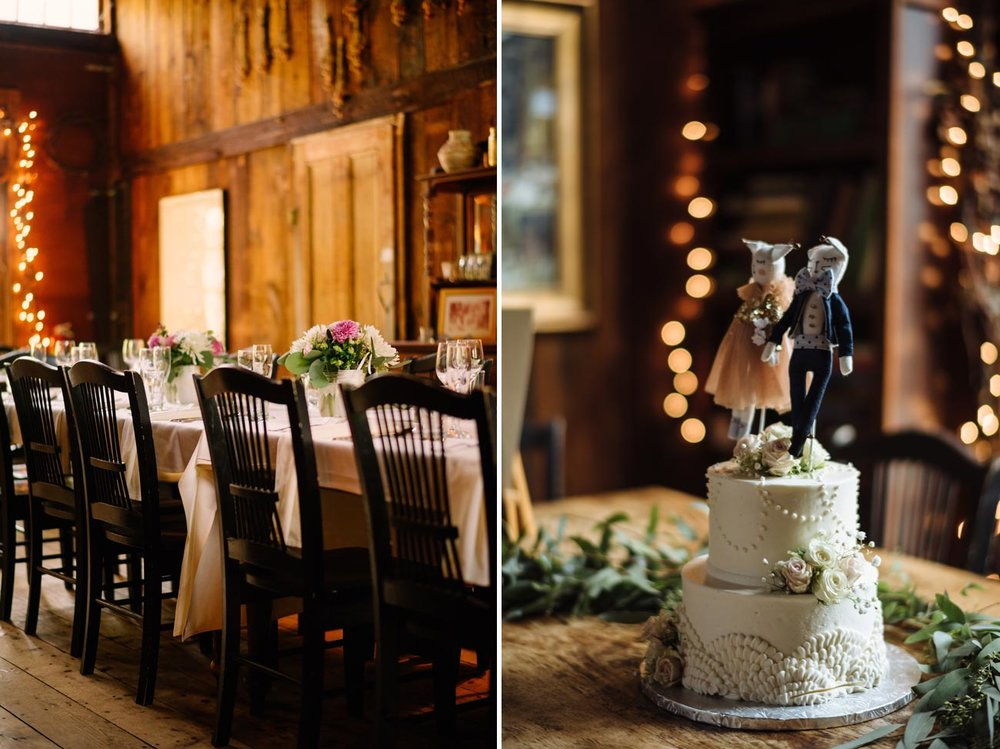 bohemian style wedding cake at the Herb Lyceum