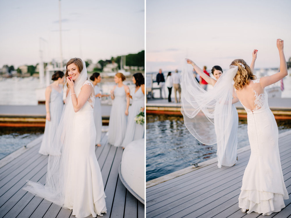bride moments at eastern yacht club