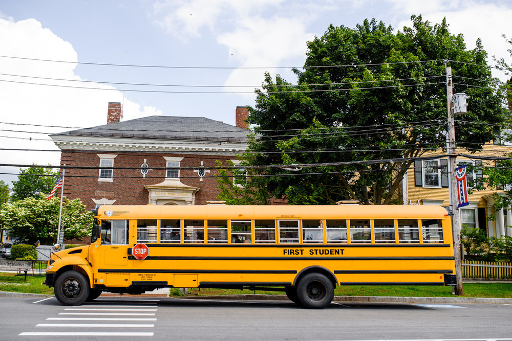 new england school bus rentals for weddings in new hampshire