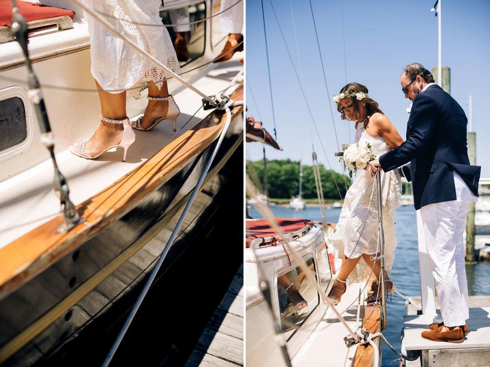 portland maine boat elopement Nonantum Resort