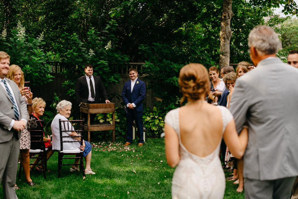 backyard wedding goals in nantucket private home wedding rental