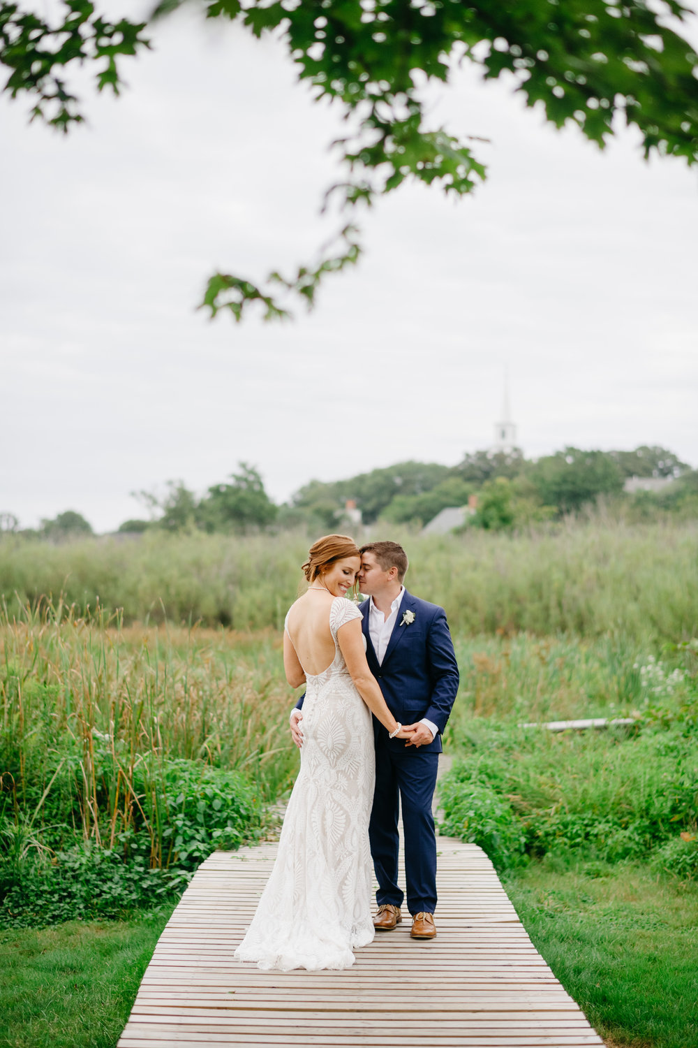 nantucket wedding portraits on the docks