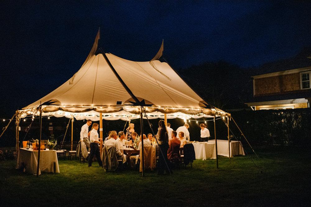 nantucket island destination night wedding tent