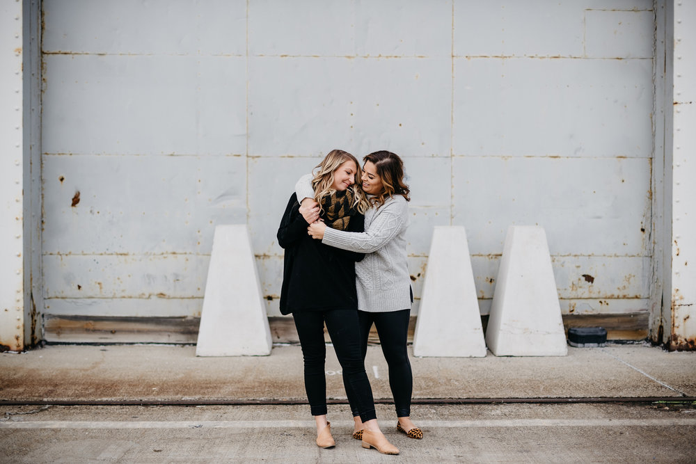 lifestyle and fun same sex lesbian engagement photos and inspiration in south boston