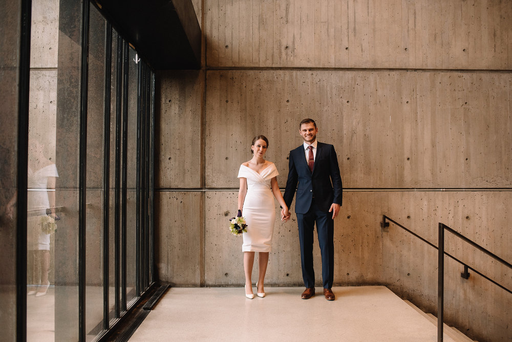 fun lifestyle portrait of a couple married at boston city hall
