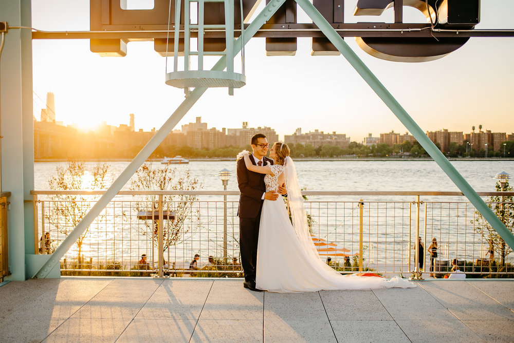 epic domino park wedding and elopement photos