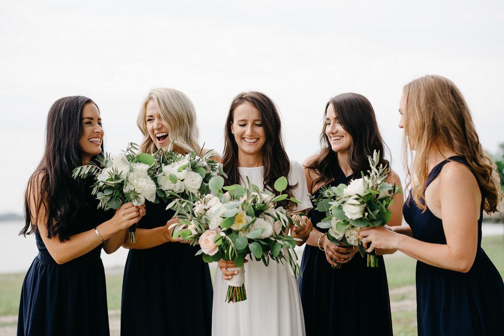 beautiful bridesmaids on thompson island