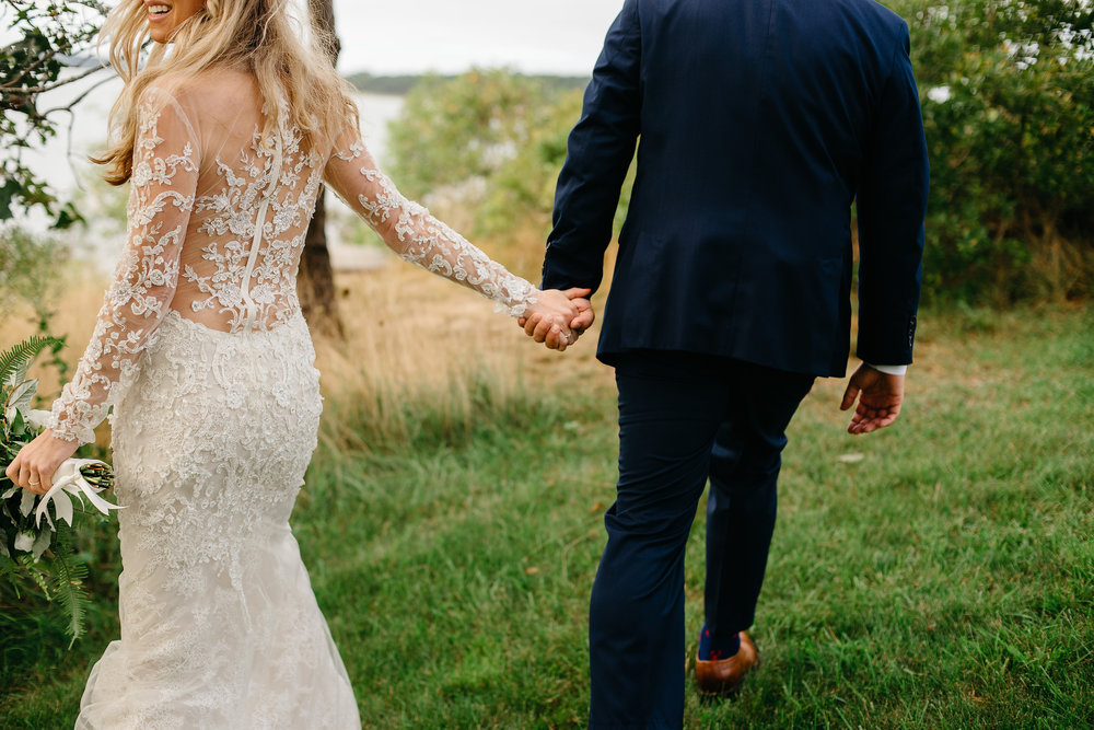 sexy portrait of bride and groom in cape cod, top luxury wedding photographer