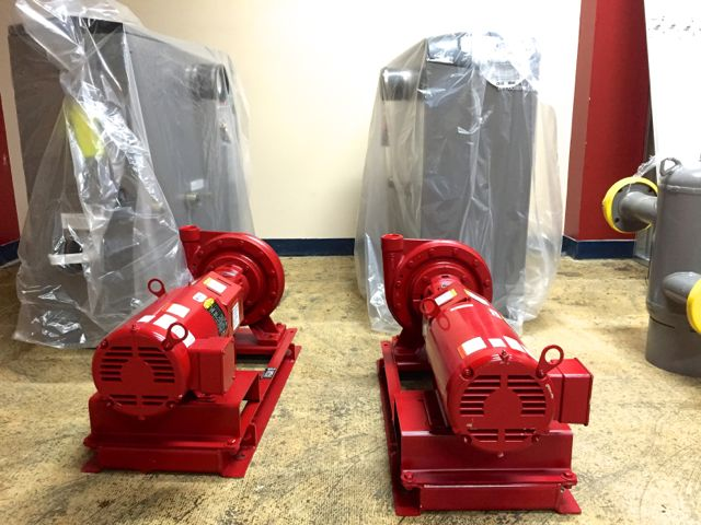 Some of the components for our new boiler that were delivered on November 20.