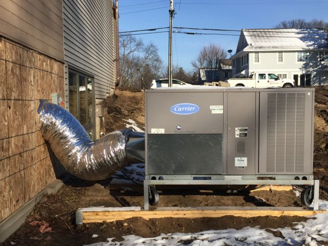 A temporary furnace is being installed to heat the Sanctuary until the new boiler room and HVAC systems are complete.