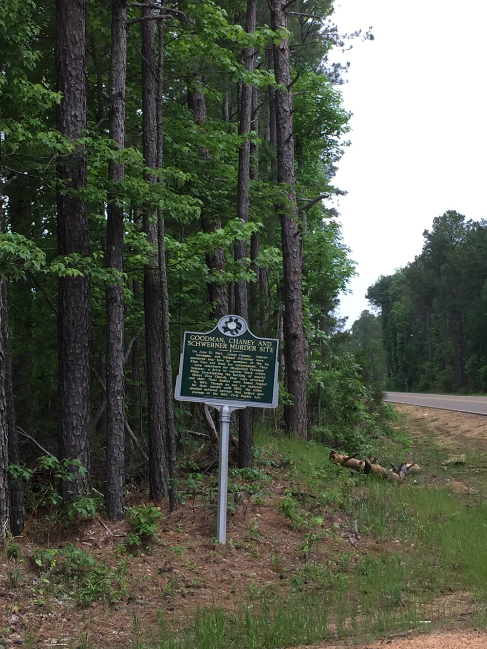 Murder Site Sign