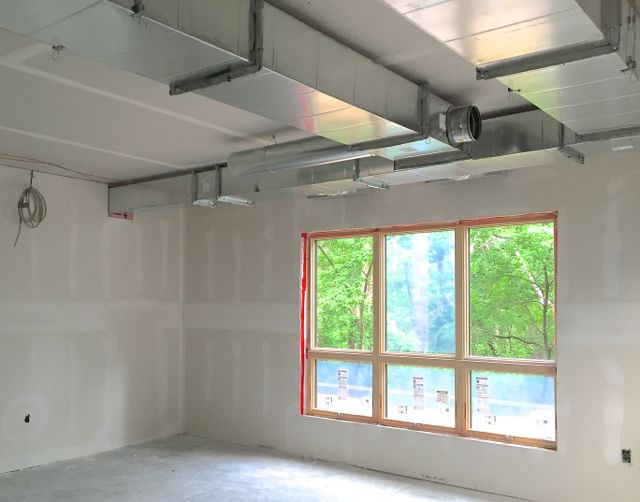 The ductwork for a single room may seem a bit simplistic, until it's viewed as part of the entire labyrinthine HVAC system.
